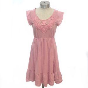 NWT EDC by ESPRIT Pink Cotton Short Sleeve Dress M